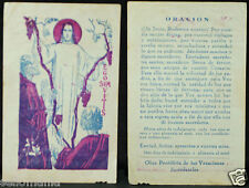 OLD BLESSED JESUS CHRIST HOLY CARD ANDACHTSBILD SANTINI    SEE MY EBAY SHOP C828