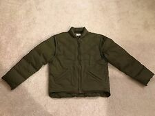 Vintage J. Crew Men's Duck Down Parka Jacket Small Army Green Detachable Sleeves