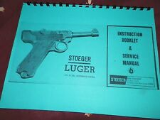 Stoeger Luger, .22lr cal. Automatic Pistol,  Instruction Manual,  17 Pages