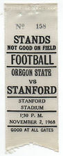 1968 College Football Ribbon Stanford University vs Oregon State