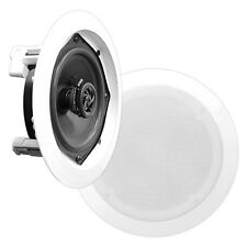 PYLEHOME pdic81rd IN-WALL / CEILING 8 Pollici Speaker System, 2-way Flush Mount Bianco