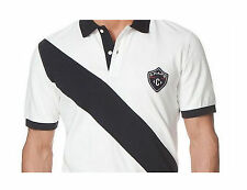 Chaps Ralph Lauren Polo Shirt Mens Small White Blue Williamson Rugby Cotton New