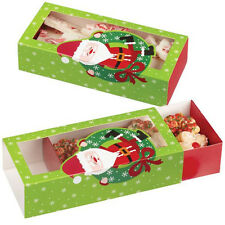 Christmas Santa Sliding Cookie Boxes 3 ct from Wilton #1830 - NEW