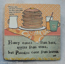 u Good Life Pancakes come from Heaven CURLY GIRL HANGING PLAQUE sign 6""