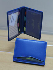 Leather Travel Card Holder * Colbalt Blue * Oyster Card