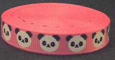 10mm Grosgrain Panda Ribbon 2m Length