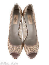 GORGEOUS CHIC ELEGANT Valentino Patent and perforated Leather Taupe/Beige Shoes