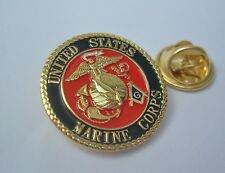 Masonic United States USA Marine Corps USMC Armed Forces Lapel Pin Plus Pouch