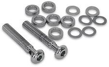 D & M Custom 3 1/4in Cut-To-Length Chrome Breather Bolt Kit DM-6000K