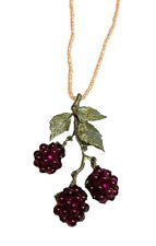 RASPBERRY GARNET PENDANT/NECKLACE BY MICHAEL MICHAUD FOR SILVER SEASONS 8112BZGN