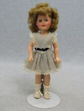 """12"""" vintage vinyl plastic Ideal Toy Shirley Temple Doll in original dress"""