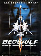 Affiche 120x160cm BEOWULF (1999) Christophe Lambert, Rhona Mitra, Cotton TBE