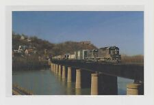 BALTIMORE  &  OHIO     Crossing the Potomac River at Harpers Ferry,WV in 1973