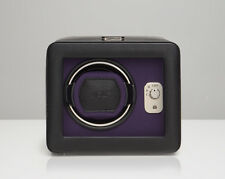 WOLF 452503 Windsor Single Watch Winder Black/Purple With Cover