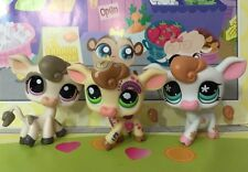 Littlest Pet Shop x 3 #1351#1833#1066 White Cream Post Card Cow