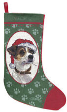 Jack Russell Terrier Tapestry Christmas Stocking