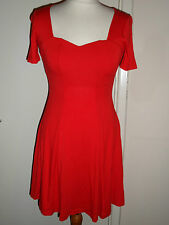 NEW ASOS Red Dress Size UK 6-8 EU 34