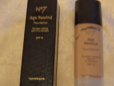 2 x Boots No7 Age Rewind Hypo-Allergenic Foundation SPF15 No15 Tan Make-up