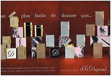 Publicité Advertising 1962 (2 pages) Les Briquets S.T Dupont