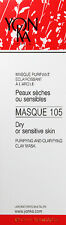 Yonka Masque 105 Clarifying Mask 3.5oz(100ml) Dry Sensitive Skin Overstock Sale