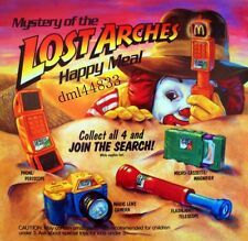 1992 McDonalds Mystery Lost Arches MIP Complete Set & U3 - Lot of 5,  3+