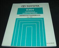 Werkstatthandbuch Toyota Camry XV30 Schaltgetriebe Getriebe Transaxle E354 2001