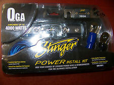 NEW STINGER SK101 0 GAUGE AMPLIFIER 4000 WATT INSTALL ACCESSORY KIT CAR AUDIO