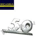 2905 - TARGHETTA ALLUMINIO CROMATA SCUDO ANTERIORE N° 50 VESPA 50 SPECIAL R L N
