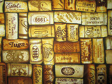 CORKS WINE CORKS NAMES TAN PACKED COTTON FABRIC FQ