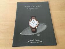 Information Package A. LANGE & SÖHNE Watches - Acerca de relojeros y visionarios