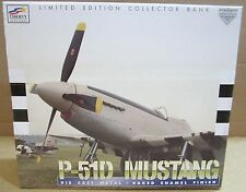 P51-D Mustang Fighter Airplane Die-Cast Metal Coin Bank Baked Enamel Finish NEW