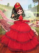 """12"""" Vintage Bradley Artmark  dress Big Eyes Hoop Skirt  Dress Doll"""