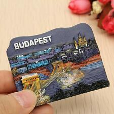 3D Resin Budapest Hungary Fridge Magnet Travel Collectible Tourist Souvenir Blue