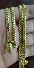 "14K Miami Cuban Link Chain Solid Gold , 24"" 4.50 MM 36 Grams"