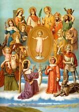 Vierzehn Nothelfer Blasius Achatius Christophorus hlg. St. Bütten Sankt A3 0137