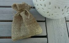 25 x hessian wedding favour bags burlap small little jute