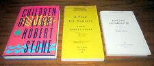 3 Books ROBERT STONE Signed UNCORRECTED PROOFS FLAG FOR SUNRISE CHILDREN LIGHT