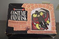 """Vintage 80's BEN COOPER CREEPY CREATURES  MASK & COSTUME """"Hoblin Goblin"""" 3 to 6"""