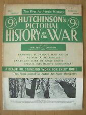 VINTAGE HUTCHINSONS PICTORIAL HISTORY OF THE WAR MAGAZINE WWII JULY 12th 1944