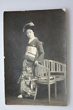 Geisha Japan - original Ansichtskarte Litho um 1900