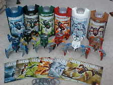 Lego Bionicle 6 VISORAK  Figures 8742 - 8747 Box & instructions Complete Boxes