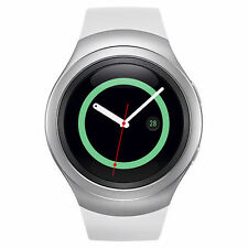 Genuine Samsung - Gear S2 Smartwatch 42mm Stainless Steel - White Elastomer OEM