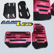 2 x Non slip Automatic Transmission Car/Truck Red Pedal Foot Pad Cover