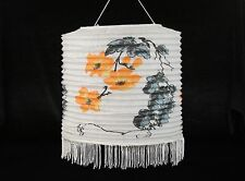 "11.5"" Chinese Japanese Paper Lantern Orange Flowers Wedding Decor"