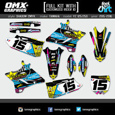 Yamaha YZ125 YZ250 2-stroke stickers decals graphics kit 2015 2016 SH CMYK