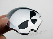 3D Skull Sportster Emblem Decal For Harley Gas Tank Fairing Softail Touring Dyna