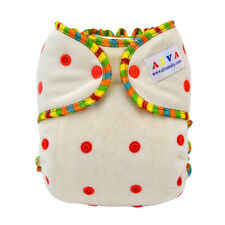 New Alva baby bambaoo fitted diaper sewn-in 3 layer bambaoo insert FT01