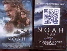 "H6 CARTOLINA PUBBLICITARIA FILM ""NOAH IN 3D"" PROSSIMAMENTE AL CINEMA! F.TO 10X15"
