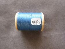 R130 Mercerie vintage ancienne bobine bois fil à coudre ALSA 332 DMC bleu ciel