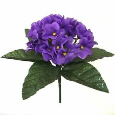 23cm Artificial African Violet Plant - Purple Spring and Summer Flowers